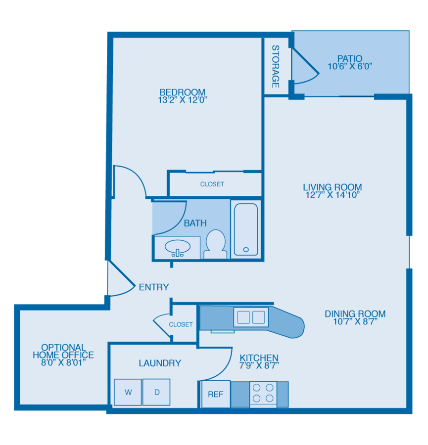 1 Bedroom 1 Bathroom Apartment for rent at Glenmary Village Apartments in Louisville, KY