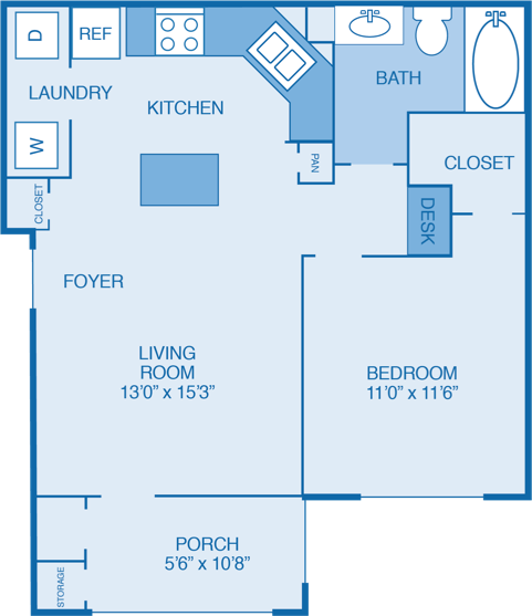 1 Bedroom 1 Bathroom Apartment for rent at Walden Legacy Apartments in Knoxville, TN