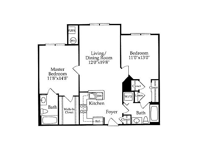 2 Bedrooms 2 Bathrooms Apartment for rent at Park Station in Gaithersburg, MD