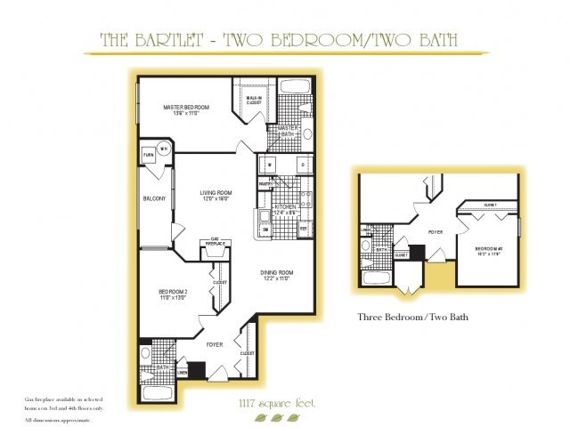 3 Bedrooms 2 Bathrooms Apartment for rent at Park Station in Gaithersburg, MD