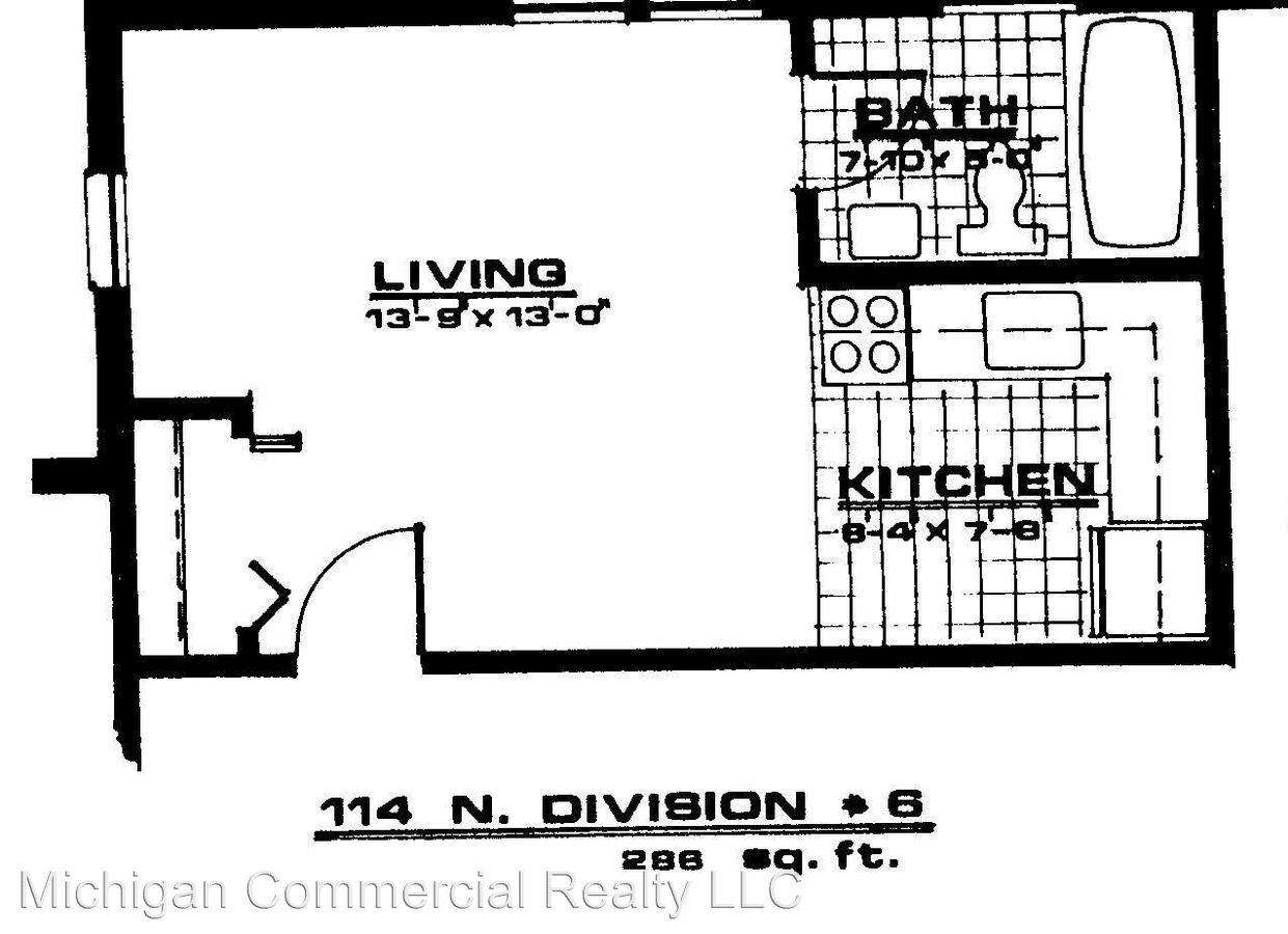 Studio 1 Bathroom Apartment for rent at 114 N. Division St. in Ann Arbor, MI