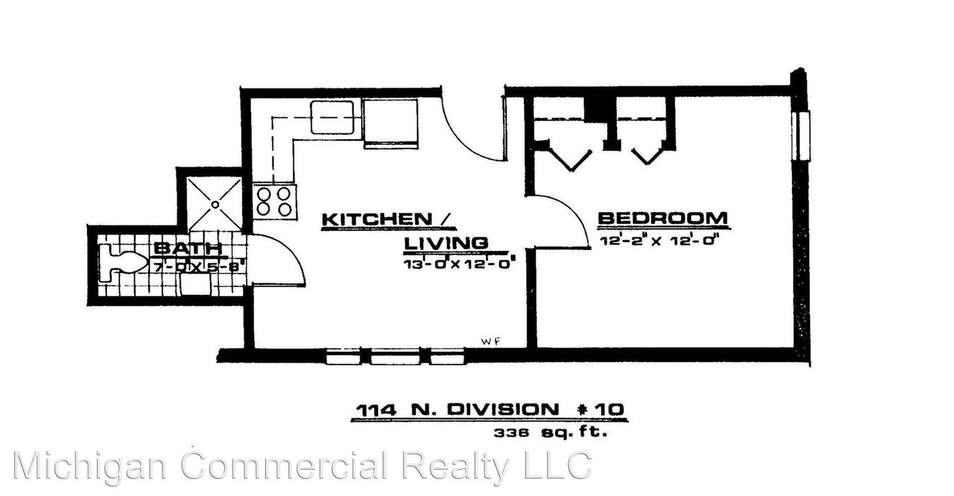 1 Bedroom 1 Bathroom Apartment for rent at 114 N. Division St. in Ann Arbor, MI