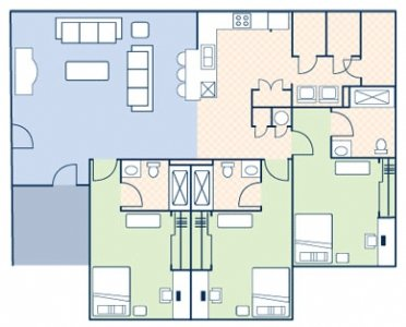 3 Bedrooms 3 Bathrooms Apartment for rent at The Boulevard in Tallahassee, FL