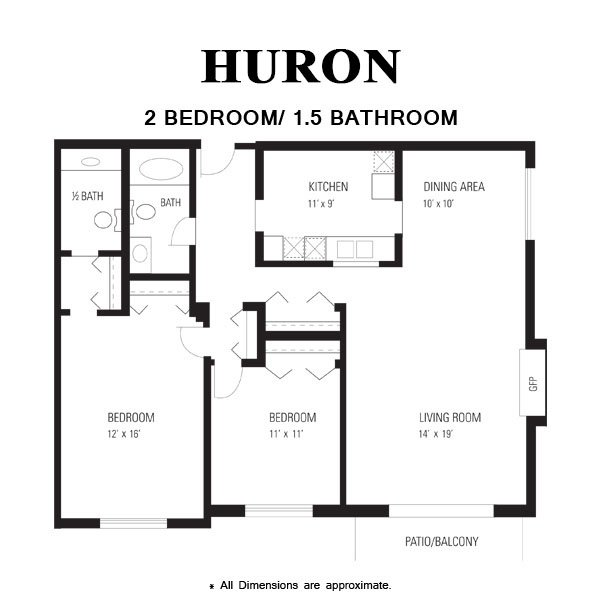 2 Bedrooms 1 Bathroom Apartment for rent at Huntington Apartments in Naperville, IL