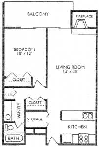 1 Bedroom 1 Bathroom Apartment for rent at The Crossing Apartments in Denver, CO