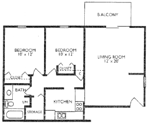 2 Bedrooms 1 Bathroom Apartment for rent at The Crossing Apartments in Denver, CO