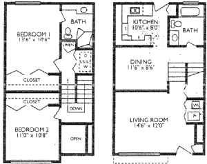 2 Bedrooms 2 Bathrooms Apartment for rent at The Crossing Apartments in Denver, CO