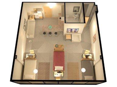Studio 1 Bathroom Apartment for rent at The Regency in Denver, CO