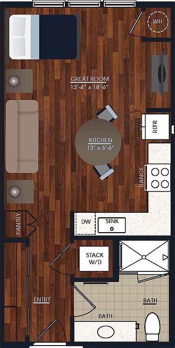 Studio 1 Bathroom Apartment for rent at Centric Lohi in Denver, CO