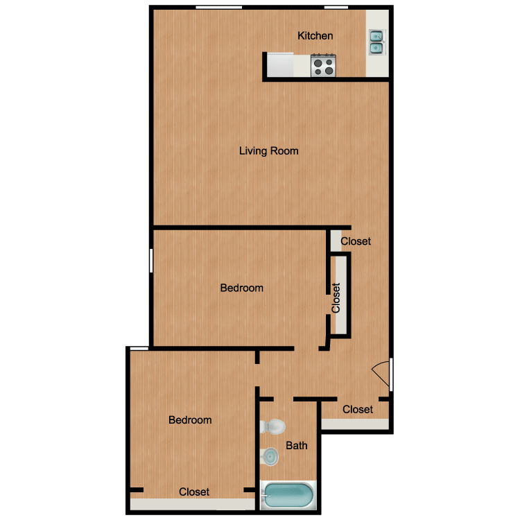 2 Bedrooms 1 Bathroom Apartment for rent at The Q in Seattle, WA