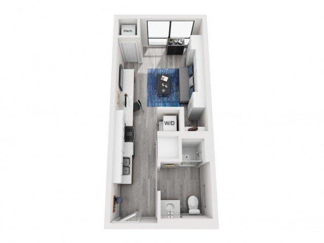 Studio 1 Bathroom Apartment for rent at Seven07 in Champaign, IL