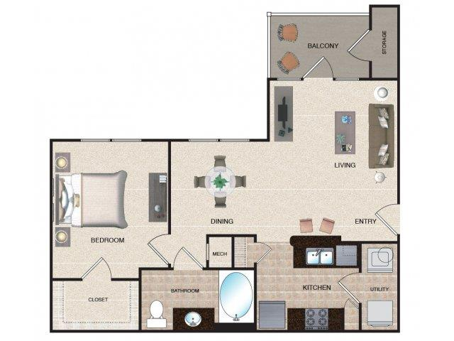 1 Bedroom 1 Bathroom Apartment for rent at Grove At Waterford Crossing in Hendersonvlle, TN