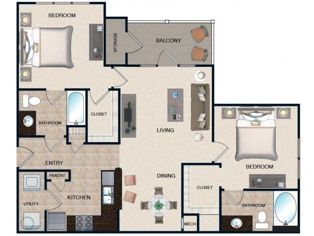 2 Bedrooms 2 Bathrooms Apartment for rent at Grove At Waterford Crossing in Hendersonvlle, TN