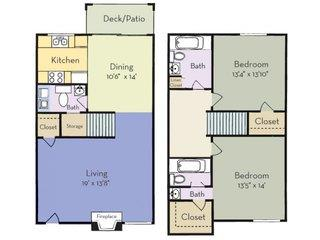 2 Bedrooms 2 Bathrooms Apartment for rent at Regency Park Apartment Homes in Raleigh, NC