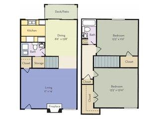 2 Bedrooms 1 Bathroom Apartment for rent at Regency Park Apartment Homes in Raleigh, NC