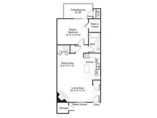 1 Bedroom 1 Bathroom Apartment for rent at Central On The Green Apartment Homes in Raleigh, NC