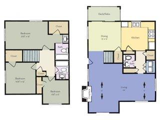 3 Bedrooms 2 Bathrooms Apartment for rent at Regency Park Apartment Homes in Raleigh, NC