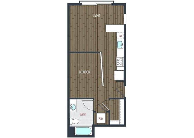 Studio 1 Bathroom Apartment for rent at Via Apartments in Denver, CO