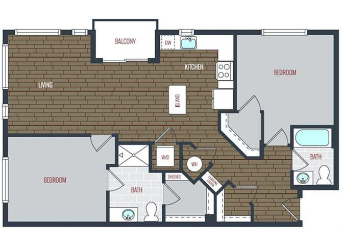 2 Bedrooms 2 Bathrooms Apartment for rent at Via Apartments in Denver, CO