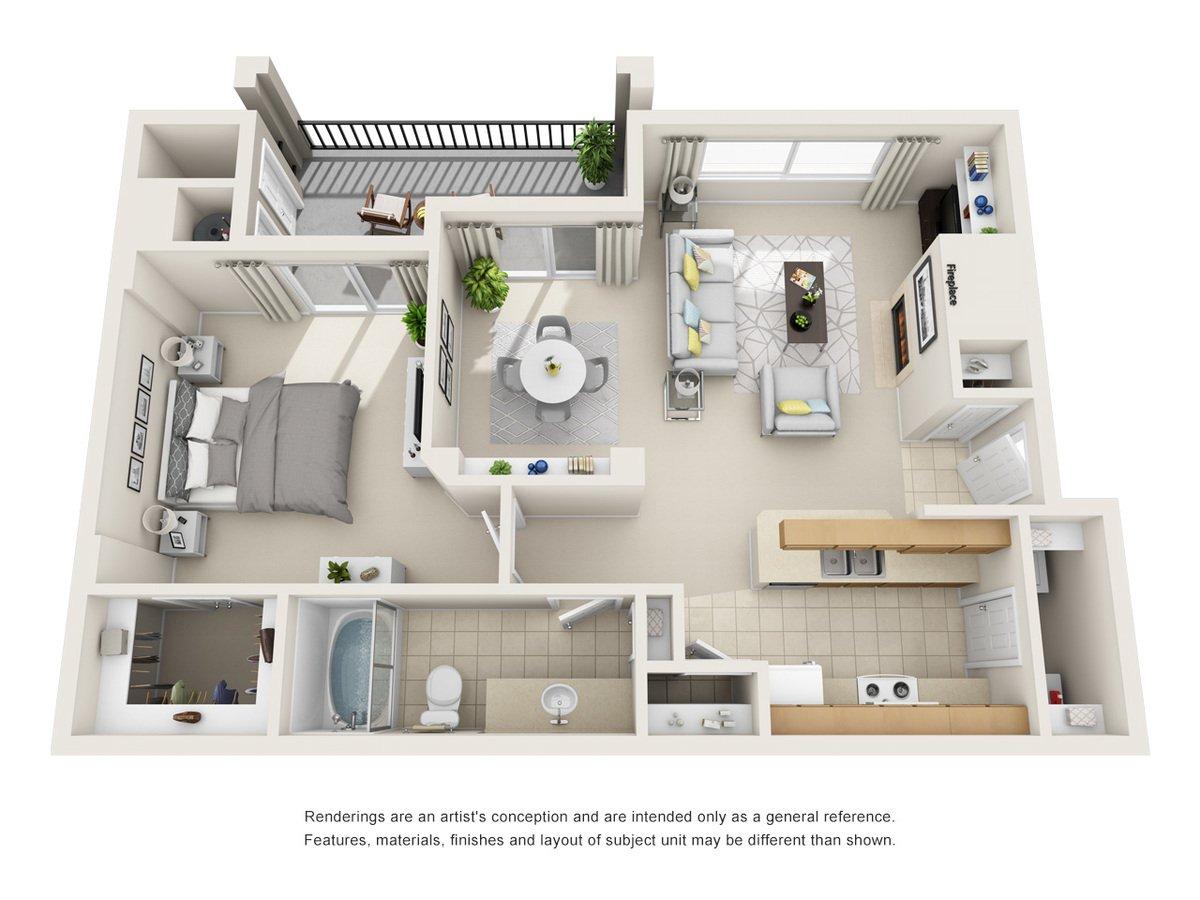 1 Bedroom 1 Bathroom Apartment for rent at Cierra Crest Apartment Homes in Denver, CO