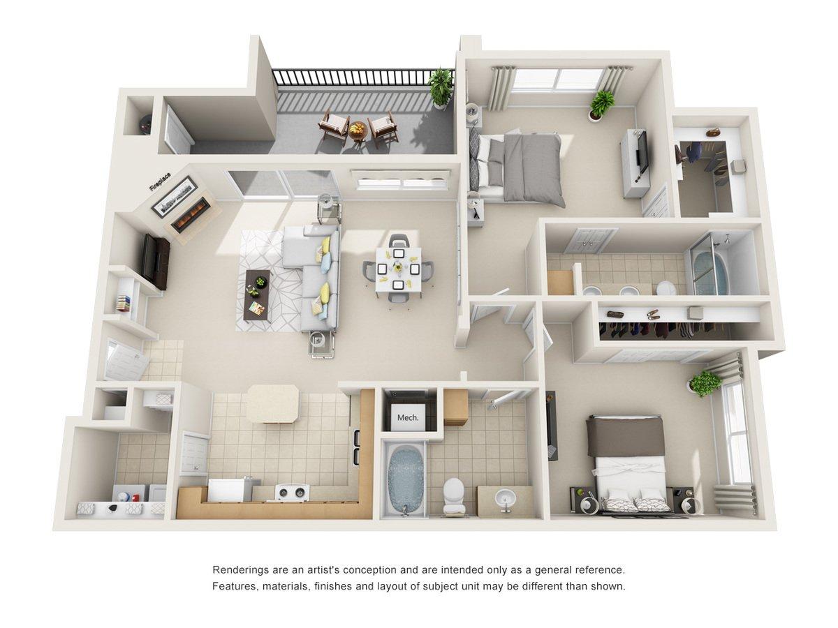 2 Bedrooms 2 Bathrooms Apartment for rent at Cierra Crest Apartment Homes in Denver, CO