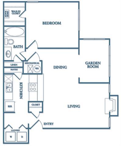 1 Bedroom 1 Bathroom Apartment for rent at Dunwoody Village Apartment Homes in Atlanta, GA