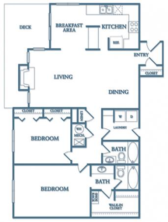 2 Bedrooms 2 Bathrooms Apartment for rent at Dunwoody Village Apartment Homes in Atlanta, GA