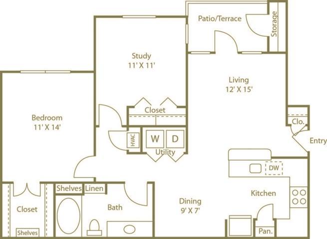 1 Bedroom 1 Bathroom Apartment for rent at Costa Bella Apartment Homes in San Antonio, TX
