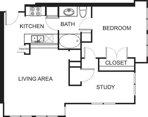 1 Bedroom 1 Bathroom Apartment for rent at Uptown Square Apartment Homes in Denver, CO