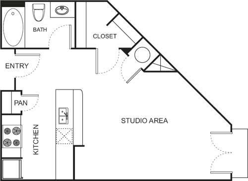 Studio 1 Bathroom Apartment for rent at Uptown Square Apartment Homes in Denver, CO