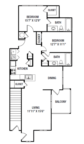 2 Bedrooms 2 Bathrooms Apartment for rent at Village At Almand Creek Apartments in Conyers, GA