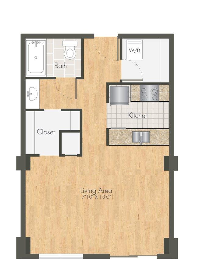 Studio 1 Bathroom Apartment for rent at Ballpark Lofts Apartments in Denver, CO