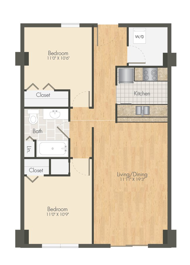 2 Bedrooms 1 Bathroom Apartment for rent at Ballpark Lofts Apartments in Denver, CO