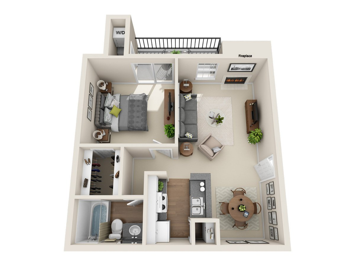 1 Bedroom 1 Bathroom Apartment for rent at Bradford Pointe in Austin, TX