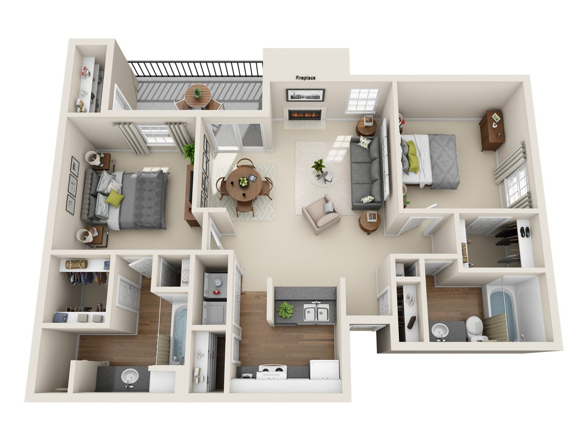 2 Bedrooms 2 Bathrooms Apartment for rent at Bradford Pointe in Austin, TX