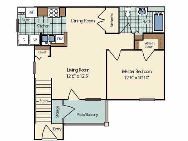1 Bedroom 1 Bathroom Apartment for rent at Cambridge Terrace Apartments in Mt Pleasant, MI