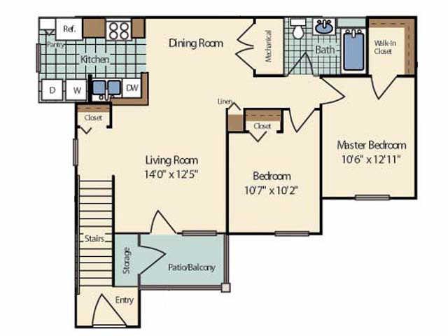 2 Bedrooms 1 Bathroom Apartment for rent at Cambridge Terrace Apartments in Mt Pleasant, MI