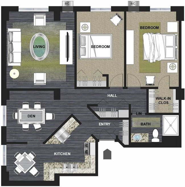 2 Bedrooms 1 Bathroom Apartment for rent at Lux Apartments in Minneapolis, MN