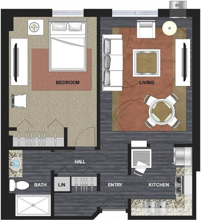 1 Bedroom 1 Bathroom Apartment for rent at Lux Apartments in Minneapolis, MN
