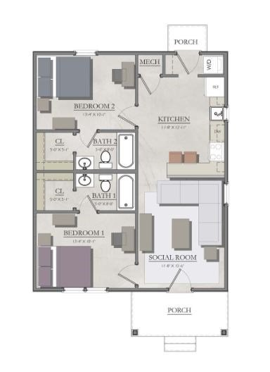 2 Bedrooms 2 Bathrooms Apartment for rent at The Cottages Of College Station in College Station, TX