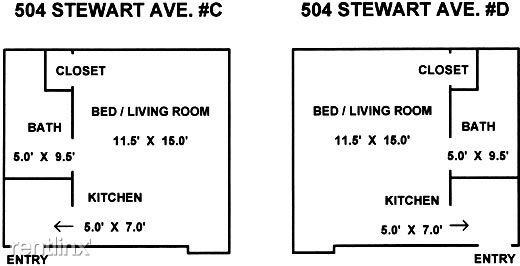 Studio 1 Bathroom Apartment for rent at 504 Stewart Avenue in Ithaca, NY