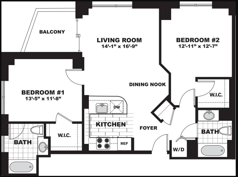2 Bedrooms 2 Bathrooms Apartment for rent at Longview Place in Waltham, MA