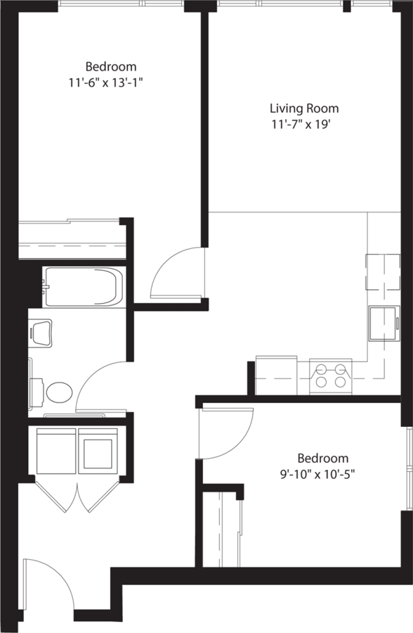 2 Bedrooms 1 Bathroom Apartment for rent at Chloe On Union in Seattle, WA