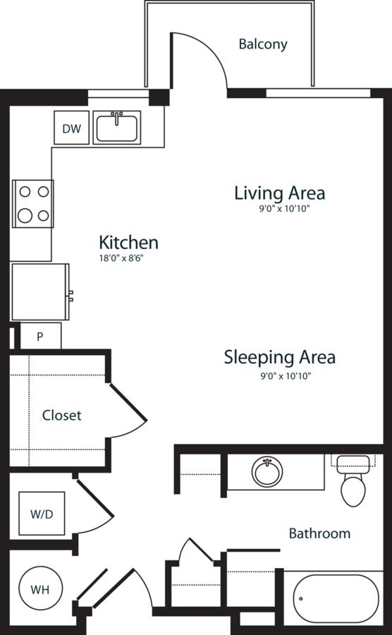 Studio 1 Bathroom Apartment for rent at Radius Uptown in Denver, CO