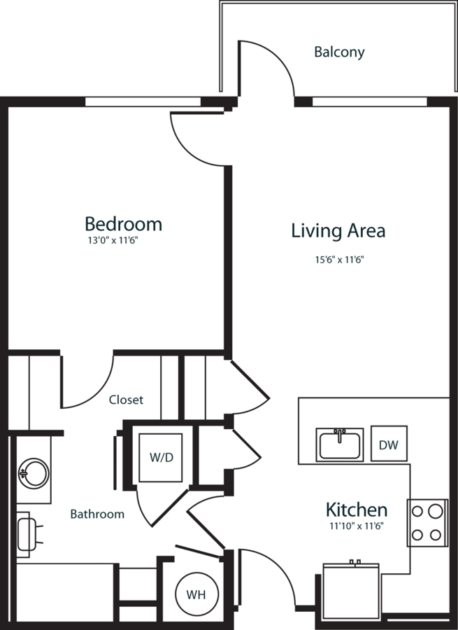 1 Bedroom 1 Bathroom Apartment for rent at Radius Uptown in Denver, CO