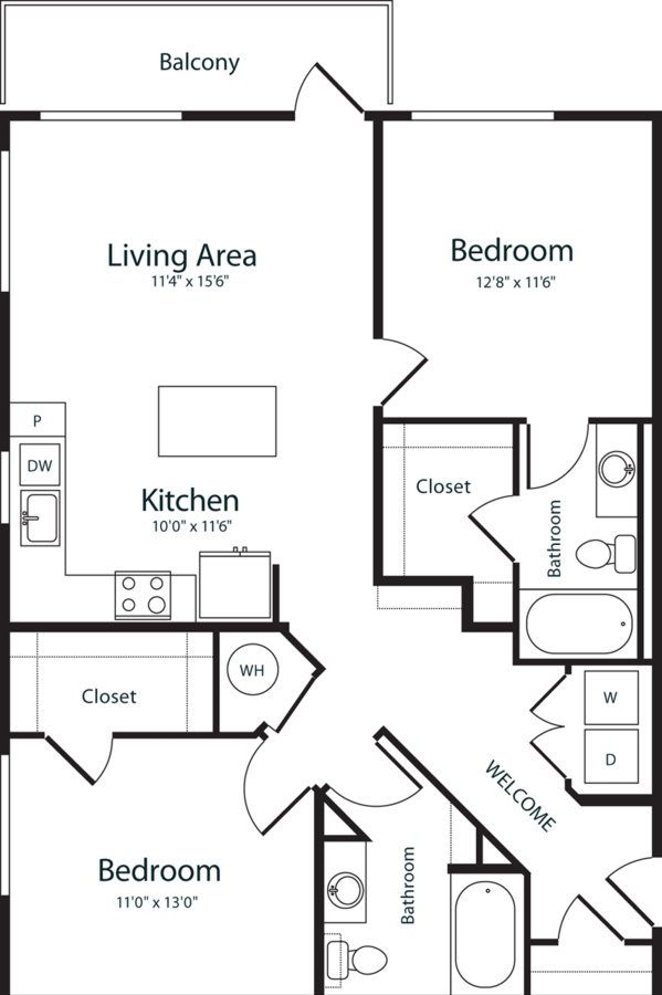 2 Bedrooms 2 Bathrooms Apartment for rent at Radius Uptown in Denver, CO