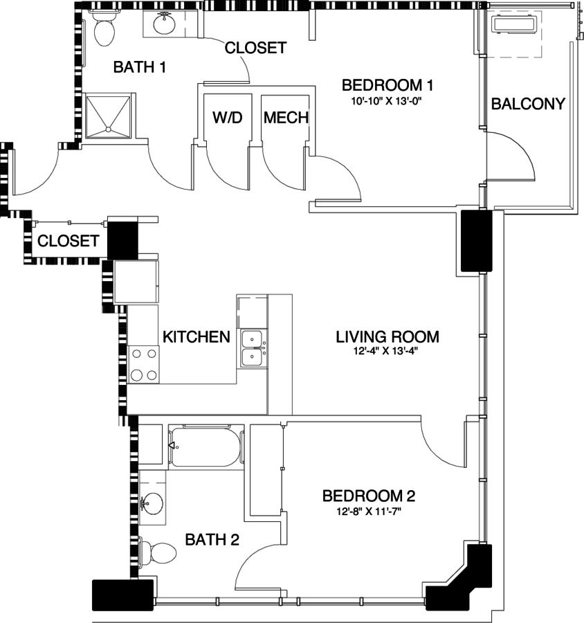 2 Bedrooms 2 Bathrooms Apartment for rent at Skyhouse Denver in Denver, CO