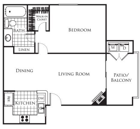 1 Bedroom 1 Bathroom Apartment for rent at Carmel Terrace in San Diego, CA