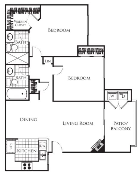 2 Bedrooms 2 Bathrooms Apartment for rent at Carmel Terrace in San Diego, CA