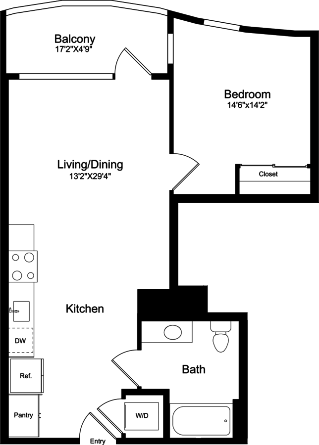 1 Bedroom 1 Bathroom Apartment for rent at 855 Brannan in San Francisco, CA